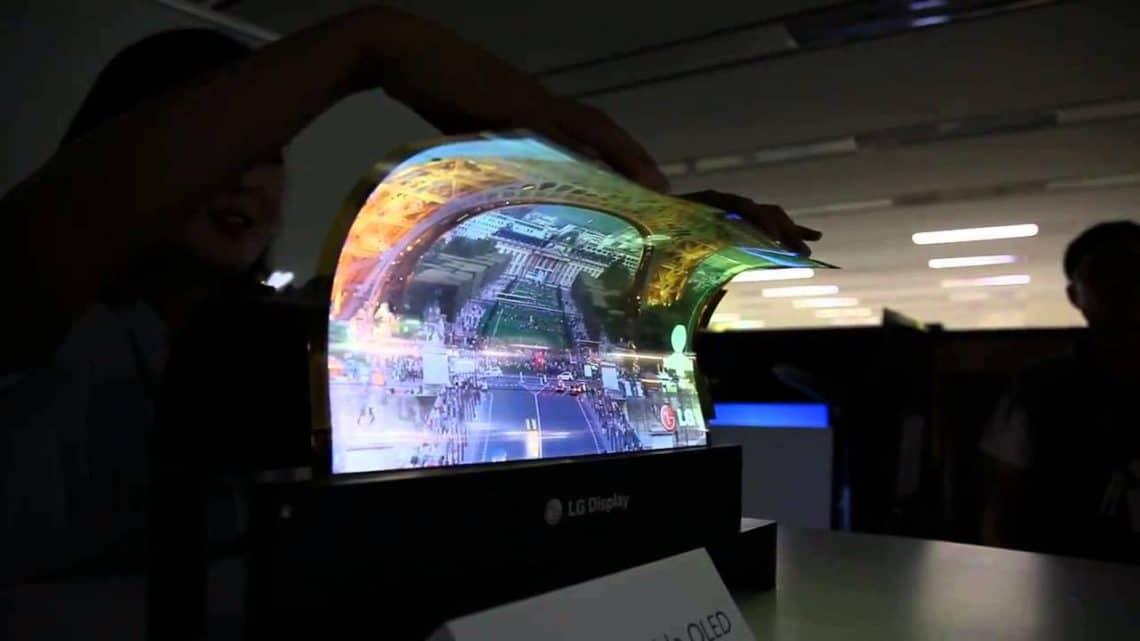 Manipulation d'un écran flexible